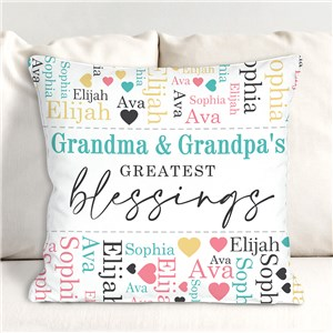 Greatest Blessings Word-Art Throw Pillow