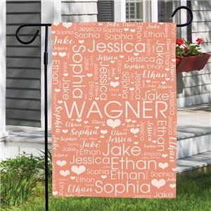 Personalized Word-Art Garden Flag 830168242X