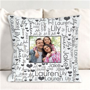 Personalized Photo Word-Art Throw Pillow 830168253X