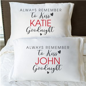 Personalized Kiss Goodnight Pillowcase
