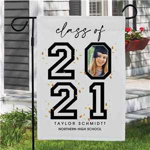 Personalized Photo in year Garden Flag