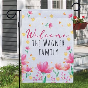 Personalized Spring Welcome Garden Flag