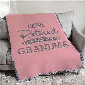 Personalized I'm Not Retired Afghan Throw 830177825
