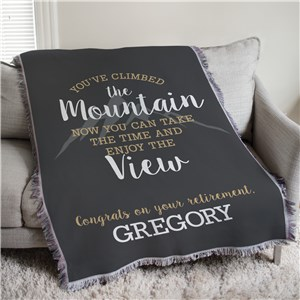 Personalized Mountain View Afghan Throw 830177865