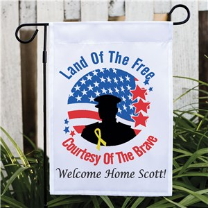 Military Garden Flag | Personalized Military Support Decorations