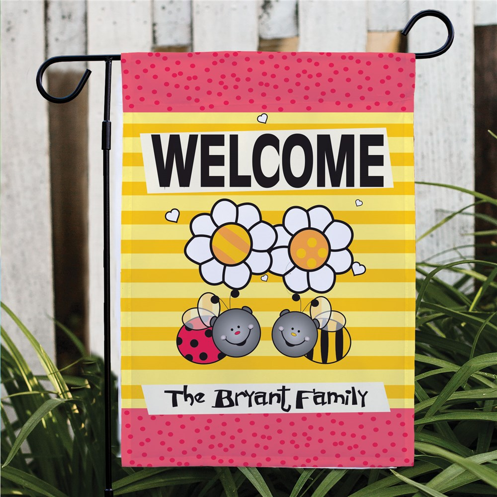 Welcome Bee Garden Flag