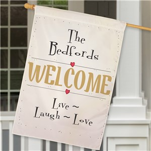 Personalized Live Laugh Love House Flag | Personalized House Flags