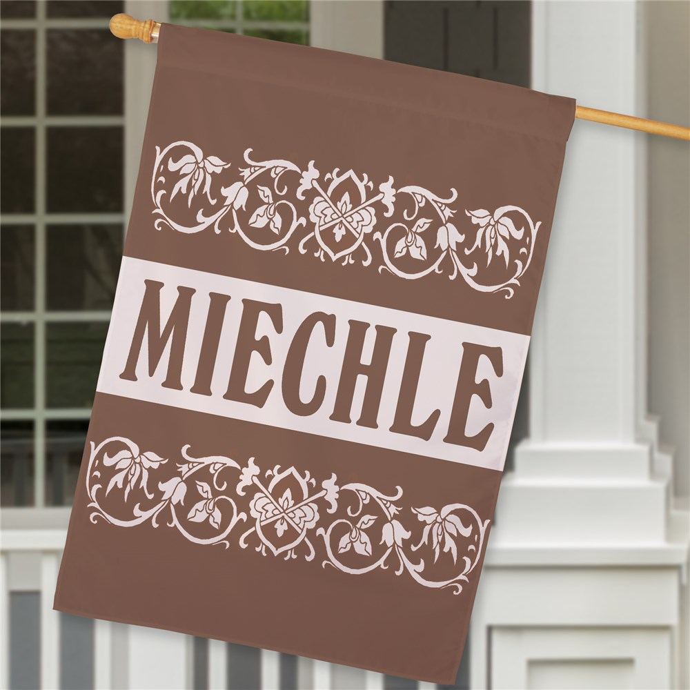 Personalized Family Welcome House Flag | Personalized House Flags