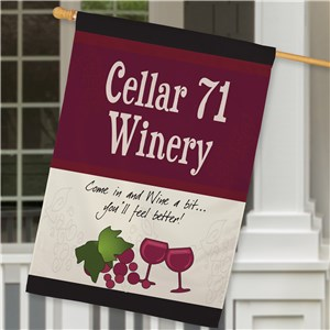 Personalized Winery House Flag | Personalized House Flags