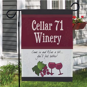 My Winery Personalized Garden Flag | Personalized Garden Flags
