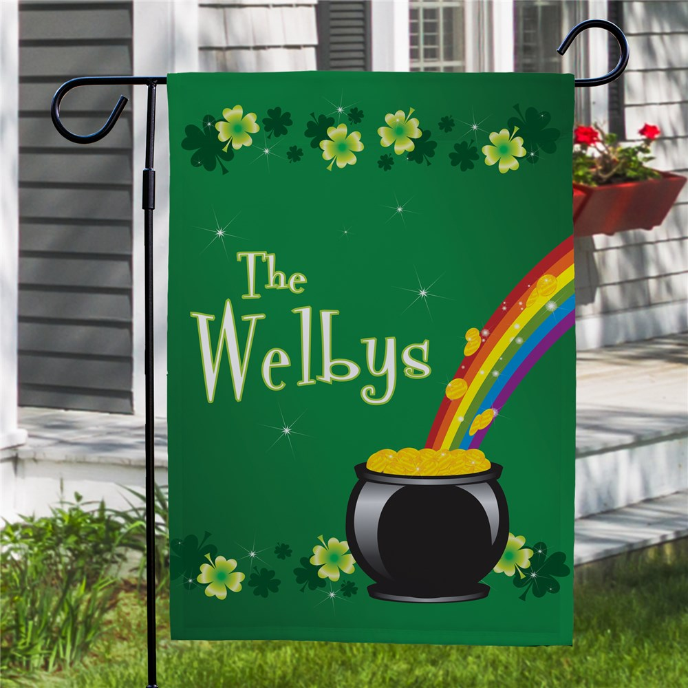 Irish Garden Flags | Personalized Irish Rainbow Flag