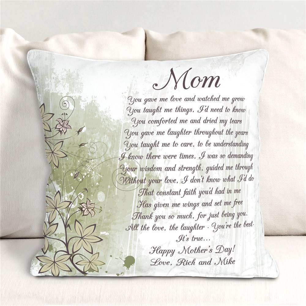 Personalized To My Mom Throw Pillow | Mom Pillow