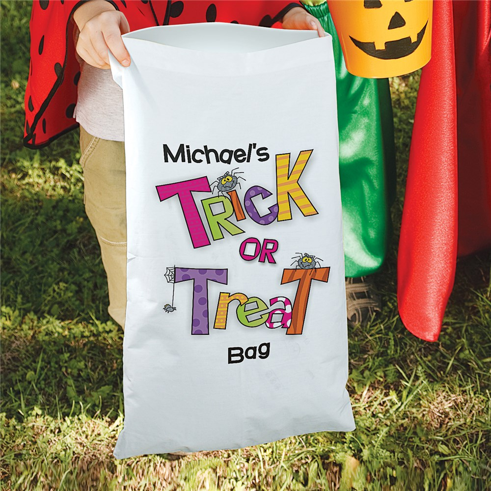 Trick or Treat Halloween Sack | Personalized Trick-Or-Treat Bags