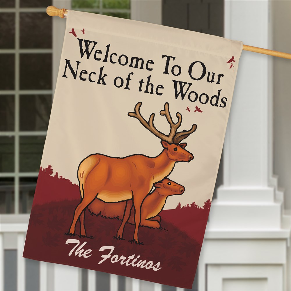 Personalized Neck of the Woods House Flag | Personalized House Flags