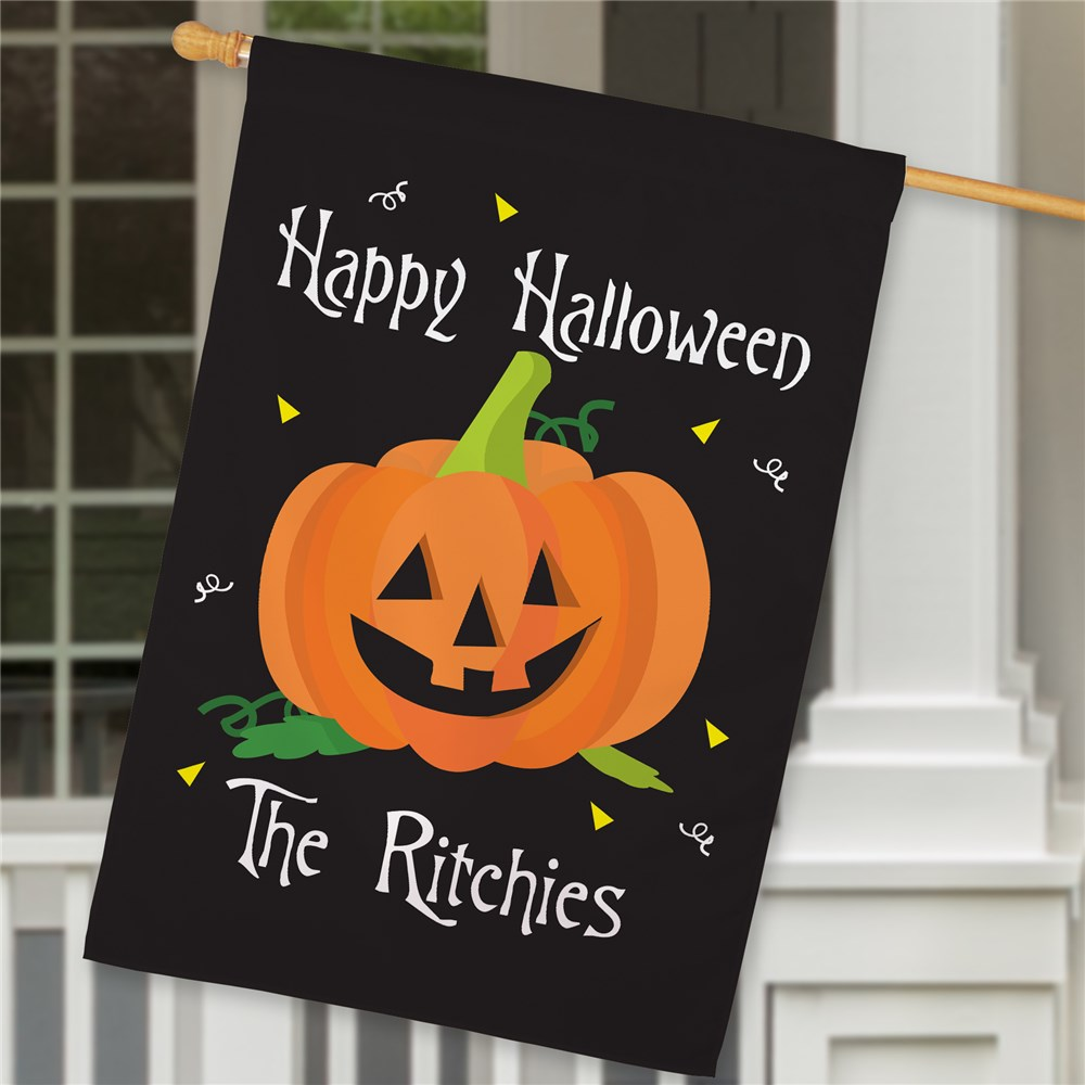 Personalized Happy Halloween House Flag 83024862L