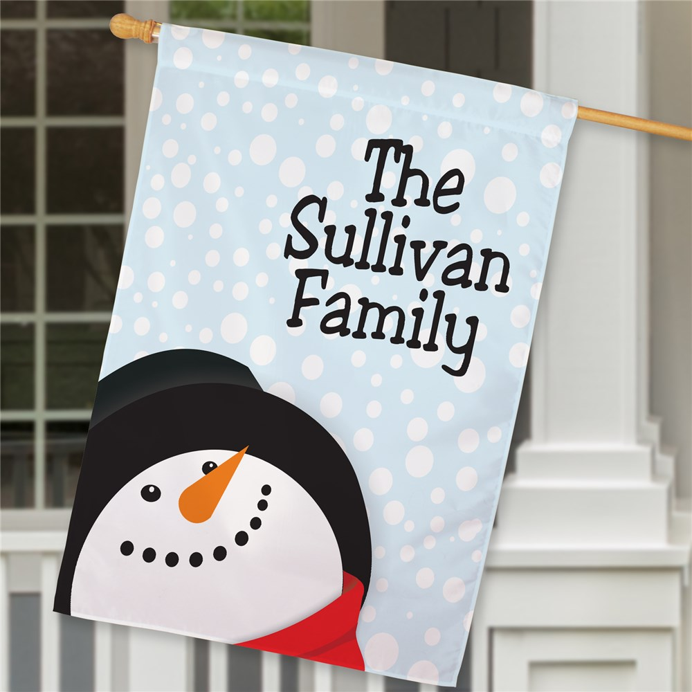 Personalized Let It Snow House Flag | Personalized Christmas Flags