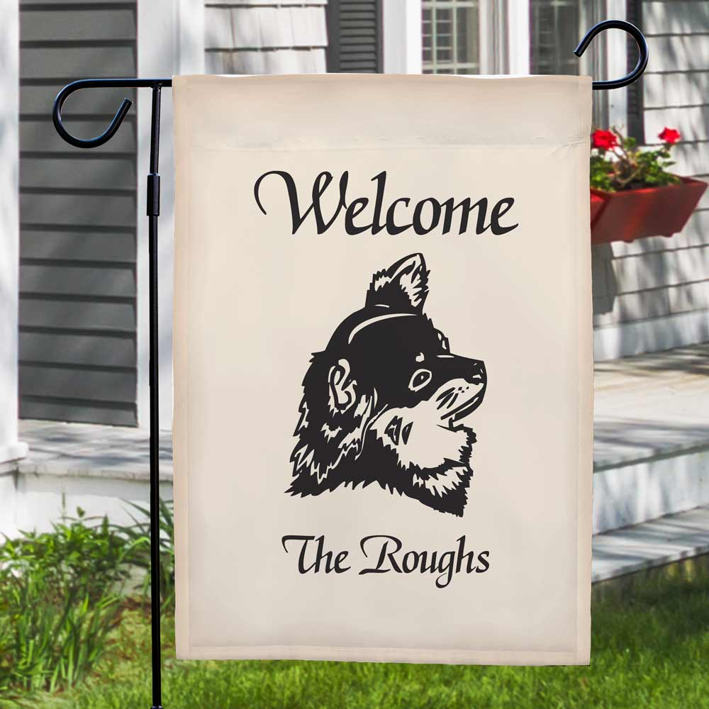 Welcome Dog Breed Personalized Garden Flag 83025422