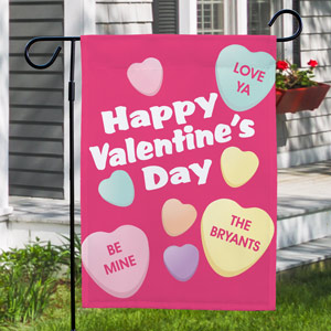 Candy Hearts Garden Flag | Valentine's Day Gifts Under 25