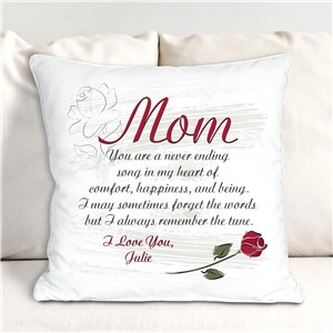 Personalized A Mother's Song Throw Pillow | Personalized Mother's Day Pillow