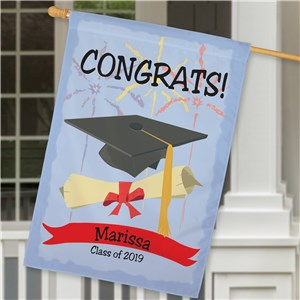 Personalized Graduation House Flag | Graduation Gifts