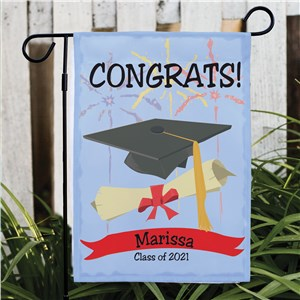 Personalized Graduation Congrats Garden Flag | Graduation Gifts
