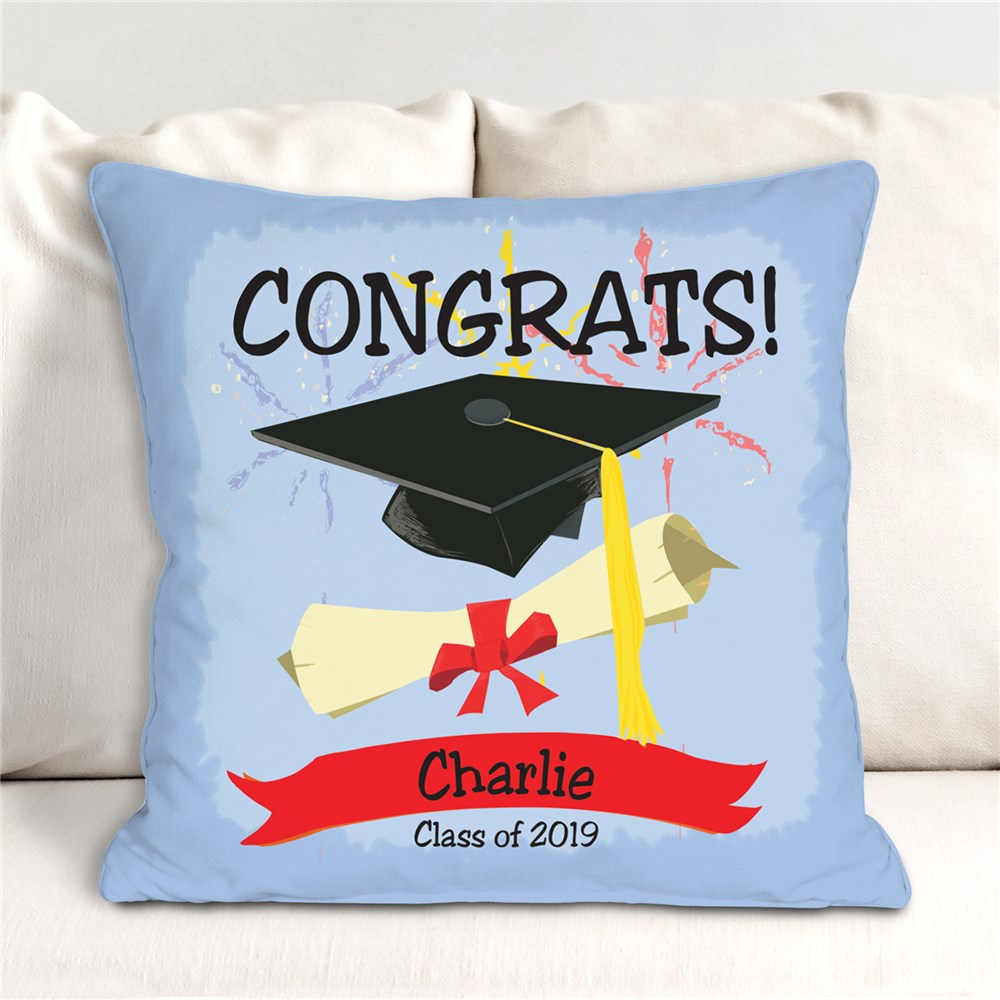Personalized Graduation Throw Pillow | Personalized Graduation Decor