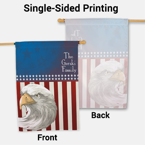 Personalized American Pride House Flag 83028302L