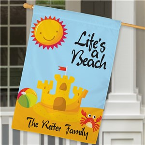 Personalized Life's A Beach House Flag | Personalized House Flags