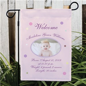 Newborn Announcement Garden Flag | New Baby House Flag