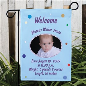 Baby Announcement Flag | New Baby Flag