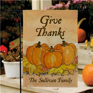 Give Thanks Personalized Garden Flag | Personalized Garden Flags