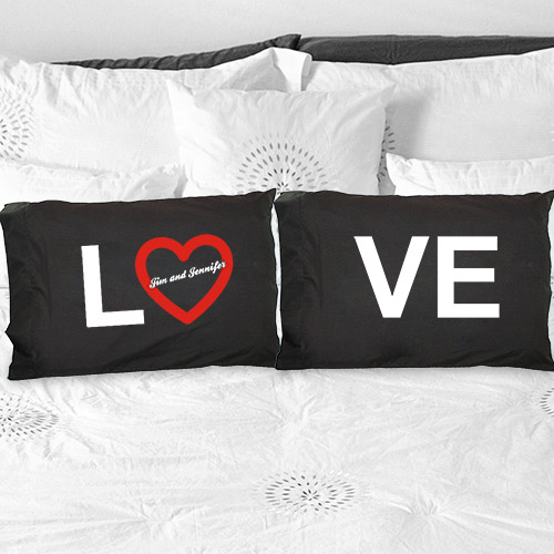 Personalized Love Pillowcase Set | Valentine Pillow Cases