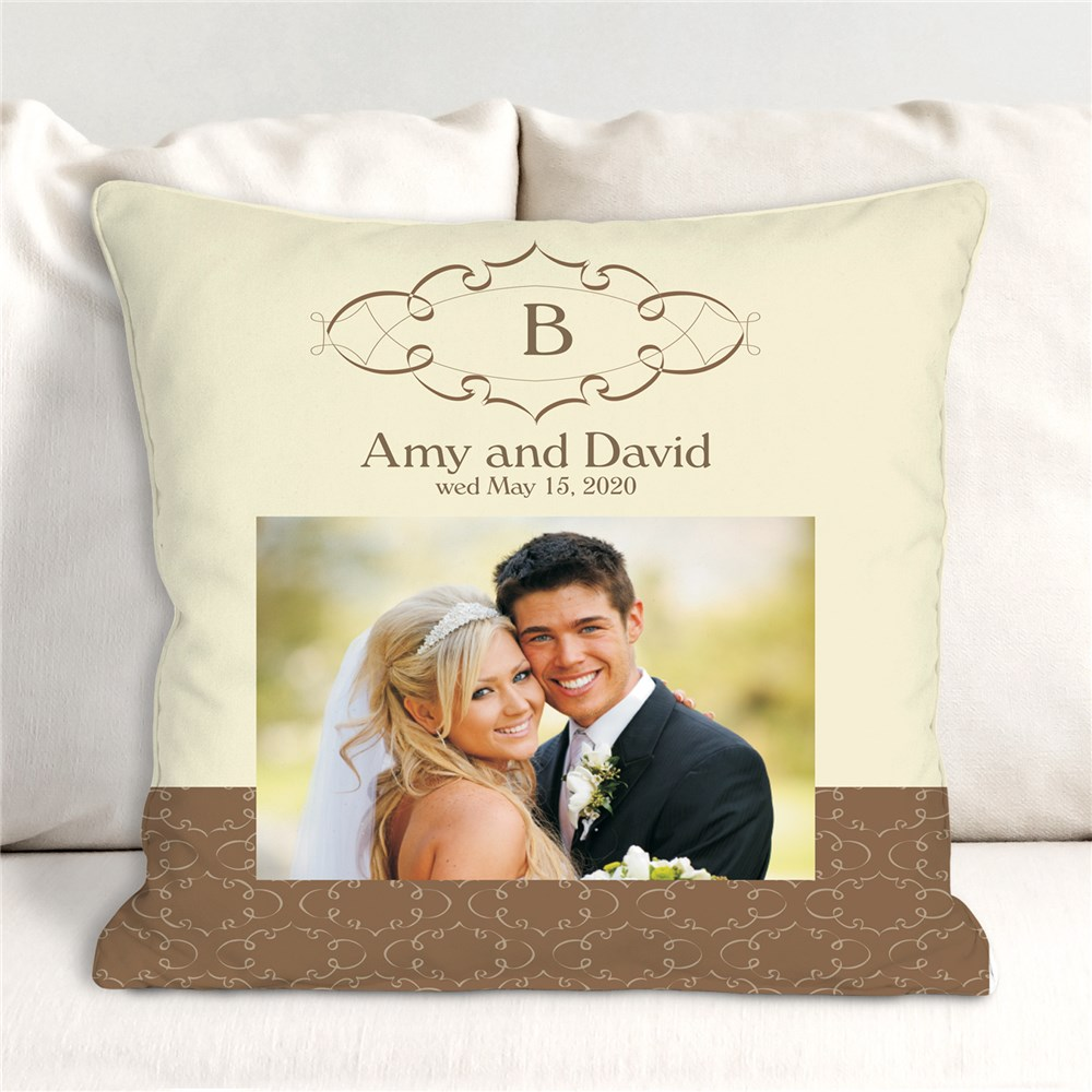 Wedding Day Personalized Throw Pillow 83033243