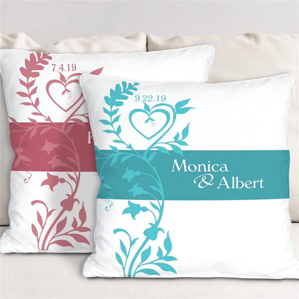 Our Wedding Day Personalized Throw Pillow | Romantic Home