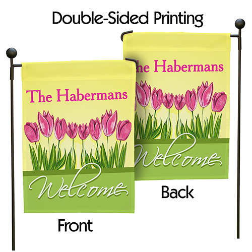 Personalized Spring Tulips Garden Flag 83033282