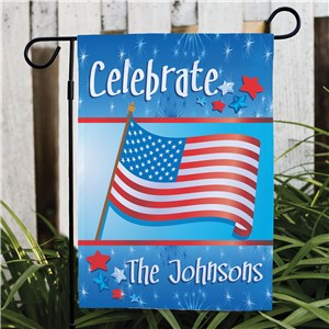 Personalized Celebration Patriotic Garden Flag | Patriotic Gifts