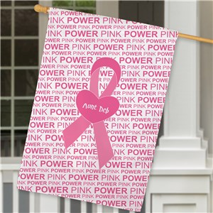 Personalized Breast Cancer Awareness House Flag | Personalized House Flags