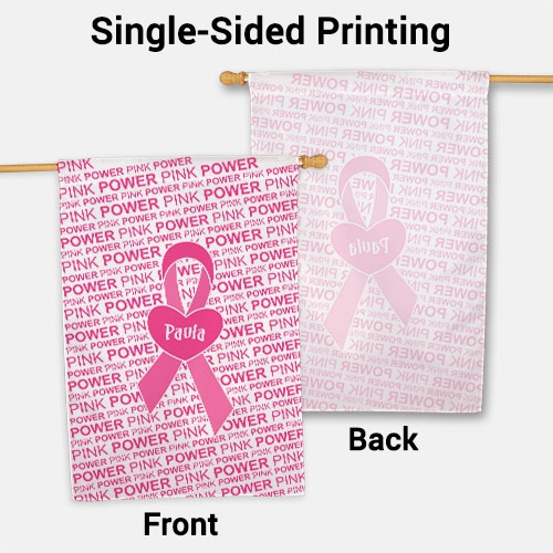 Personalized Breast Cancer Awareness House Flag 83034812L