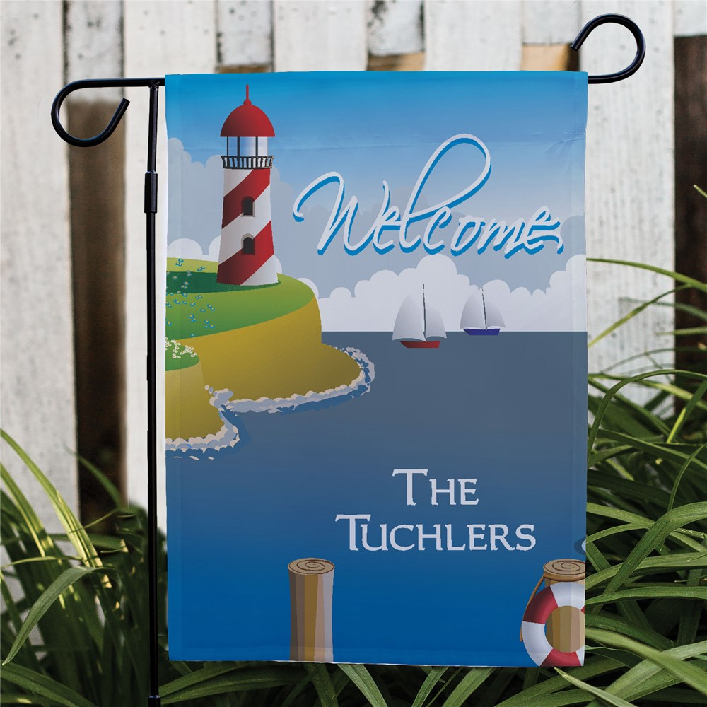 Lighthouse Personalized Garden Flag | Personalized Garden Flags