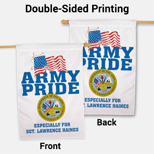 Personalized Military Pride House Flag | Personalized House Flags