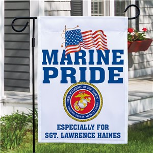 Military Pride Personalized Garden Flag 83036732