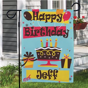 Personalized Happy Birthday Garden Flag | Personalized Garden Flags