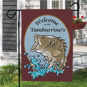 Bass Fishing Personalized Welcome Garden Flag | Personalized Garden Flags