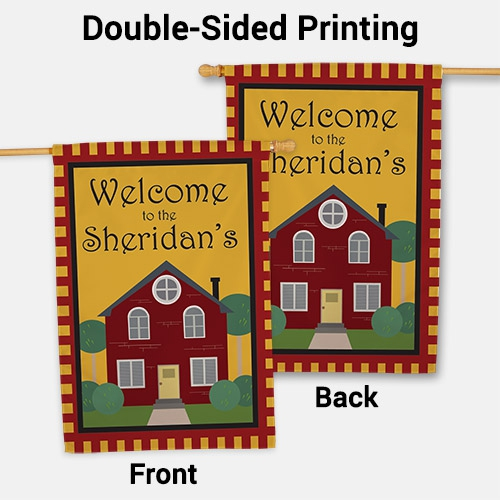 Personalized Welcome to Our Home House Flag 83036932L