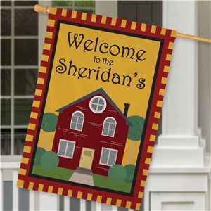 Personalized Welcome to Our Home House Flag | Personalized House Flags