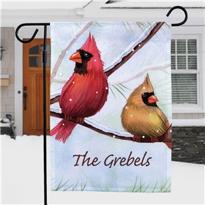 Personalized Cardinals Garden Flag | Personalized Christmas Flags