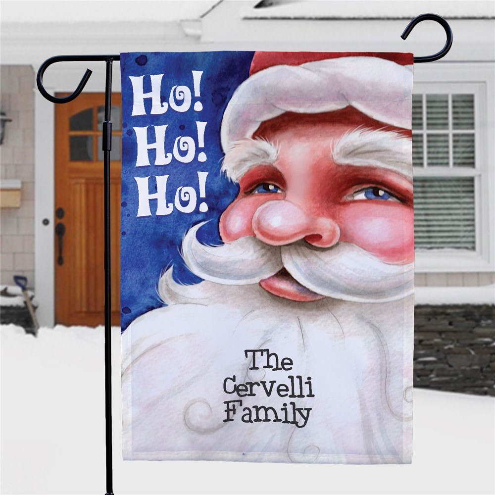 Personalized Santa Garden Flag 83037952