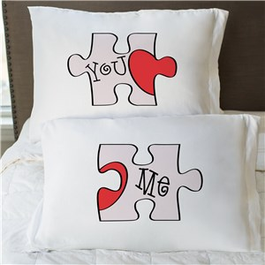 Personalized You and Me Puzzle Pillowcase Set 83038770