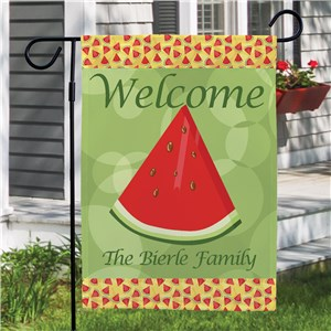 Personalized Watermelon Welcome Garden Flag | Personalized Garden Flags