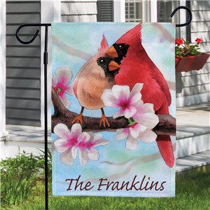 Personalized Spring Cardinals Garden Flag | Personalized Garden Flags